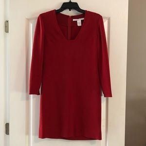 Diane Von Furstenberg V neck long sleeve dress